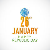 Indian Republic Day celebration poster design with beautiful tex Stock Images