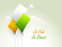 Indian Republic Day celebration with tricolor kites. Stock Photography