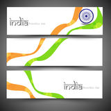 Indian Republic Day celebration web header or banner set. Royalty Free Stock Photo