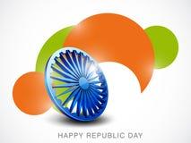 Indian Republic Day celebrations with Ashoka Wheel. Stock Image