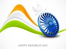 Indian Republic Day celebrations with Ashoka Wheel. Royalty Free Stock Image