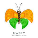 Indian Republic Day celebrations with butterfly. Stock Photos