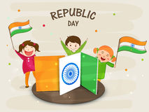 Indian Republic Day celebrations with cute kids. Stock Image