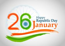 Indian Republic day concept 26 January. Vector illustration Stock Images