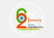 Indian Republic day concept 26 January. Vector illustration Stock Photos