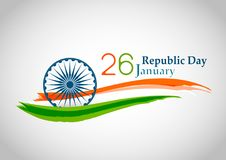 Indian Republic day concept 26 January. Vector illustration Royalty Free Stock Photos
