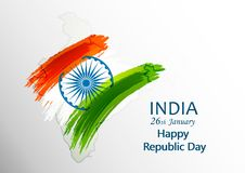 Indian Republic day concept 26 January. Vector illustration Stock Photo