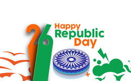 Indian Republic day. Concept with text 26 January Stock Images
