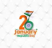 Indian Republic day. Concept with text 26 January Royalty Free Stock Photo