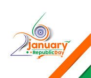 Indian Republic day. Concept with text 26 January Stock Photography