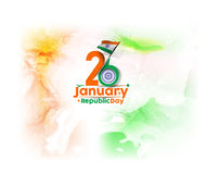 Indian Republic day. Concept with text 26 January Stock Photos
