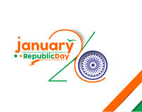 Indian Republic day. Concept with text 26 January Stock Photo