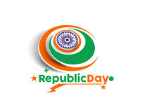 Indian Republic day. Concept with text 26 January Royalty Free Stock Image