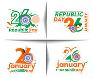 Indian Republic day. Concept with text 26 January Royalty Free Stock Images
