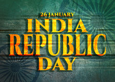 Indian Republic day concept . Stock Photos
