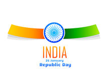 Indian republic day design  in white background. Vector indian republic day design celebrated on 26 january  in white background Stock Image