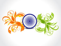 Indian republic day floral Background Stock Image