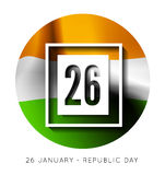 Indian Republic Day vector background with flag Royalty Free Stock Image