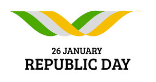 Indian Republic Day vector background with flag Royalty Free Stock Photography
