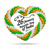 Indian Republic Day vector background with flag Stock Photography