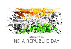 Indian Republic Day vector background with flag Royalty Free Stock Photo