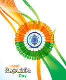 Indian republic day wave abstract background Stock Images