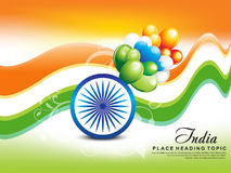 Indian Republic Day wave Background Royalty Free Stock Image