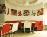 Indian restaurant interior Royalty Free Stock Photos