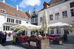The Indian restaurant in Old Tallinn Royalty Free Stock Images