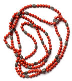 Indian retro necklaces from red coral Royalty Free Stock Photography