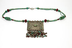 Indian retro necklaces from turquoise isolated Stock Images