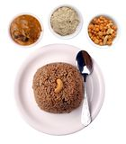 Indian rice dish with clipping mask Stock Images