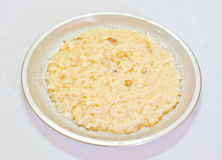 Indian rice pudding-the Kheer. Sweet indian rice pudding called as Kheer, served on a plate Stock Images