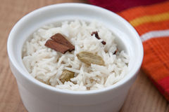Indian Rice with Spices Stock Photo