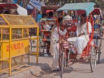 Indian Rickshaw Park Stock Photo