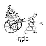 Indian rickshaw taxi bike Royalty Free Stock Image