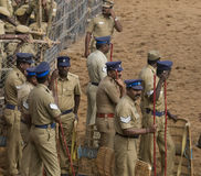 Indian riot police Royalty Free Stock Photography