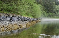Indian River. Mystic Indian river in Sitka, Alaska Royalty Free Stock Photo