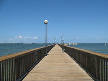 Indian River Park pier. The pier at the  Indian River Park in Stuart, Florida Royalty Free Stock Image