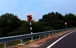 Indian road safety fence Royalty Free Stock Image