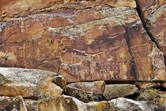 Indian Rock Art Stock Photo