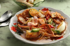 Indian rojak. A plate of delicious Indian rojak Stock Image