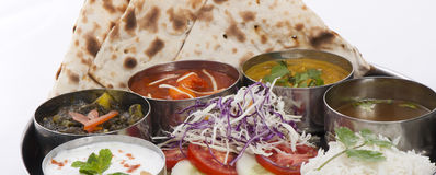 Indian roti dish Stock Image