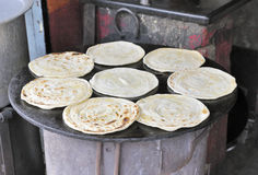 Indian Roti Paratha bread Stock Photos