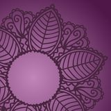 Indian round lace ornament. Rounded ornament with space for your text Stock Images