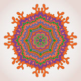 Indian round pattern. Mandala with seamless patterns. Round indian ornament Stock Photography