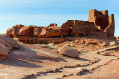 Indian ruins. Wupatki National Monument on the Colorado Plateau in Arizona Royalty Free Stock Images