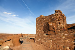 Indian ruins. Wupatki National Monument on the Colorado Plateau in Arizona Stock Photography