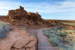 Indian ruins. Wupatki National Monument on the Colorado Plateau in Arizona Royalty Free Stock Photography