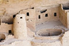 Indian ruins at Mesa Verde Royalty Free Stock Photo